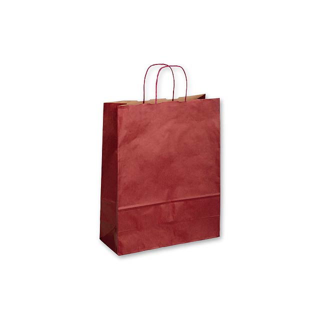 TWISTER BORDO III - papírová dárková taška, 32x13x42,5 cm - vínová