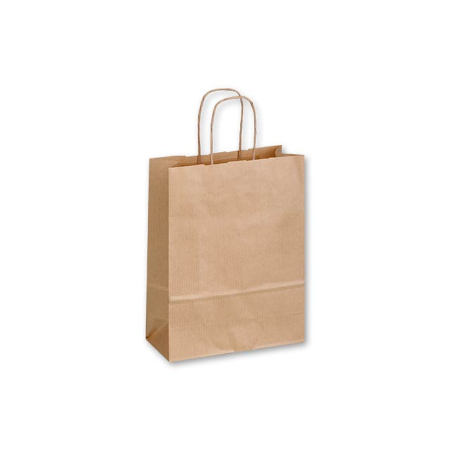TWISTER NATURA I - Gift bag made of sulphate paper with twisted paper handles in the colour of the bag. -