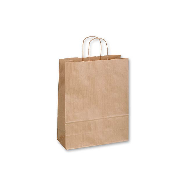 TWISTER NATURA II - Gift bag made of sulphate paper with twisted paper handles in the colour of the bag. -