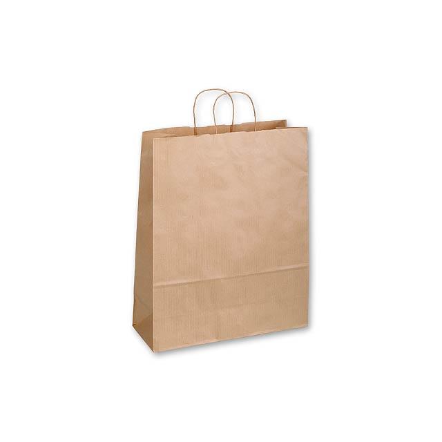 TWISTER NATURA III - papírová dárková taška, 32x13x42,5 cm -