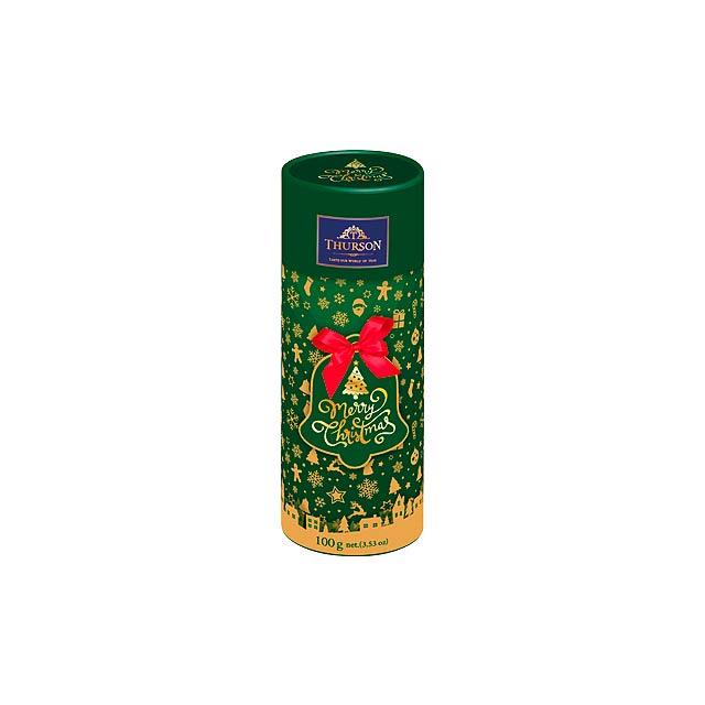 FROSTY FEST II dárková tuba s černým sypaným čajem, 100g, Zelená - zelená