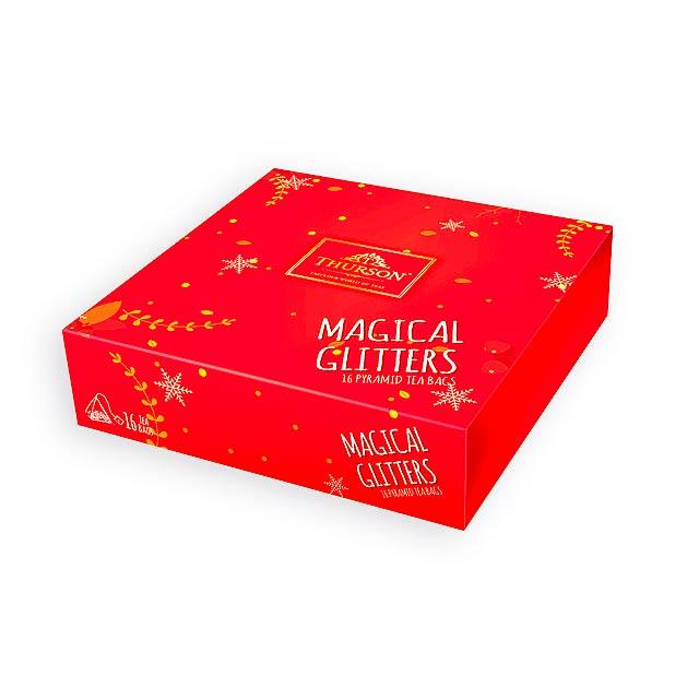 MAGICAL GLITTERS RED variace 4 druhů čajů, 16 sáčků, 32 g, Červená - červená