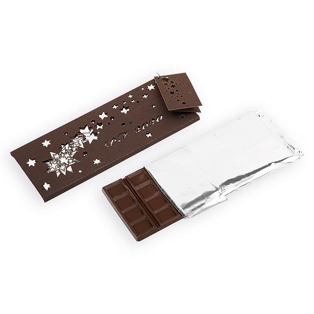 CHOCOLATE COMET hořká čokoláda 60% s brusinkami, 175g, Hnědá - hnědá