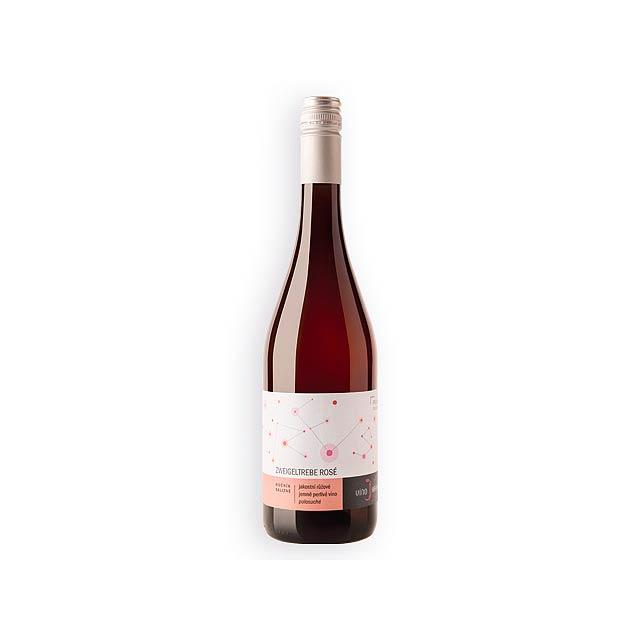 FRIZZANTE ZWEIGELTREBE ROSE jemně perlivé víno, zweigeltrebe rosé, jakostní, polosuché, Vícebarevná - multicolor