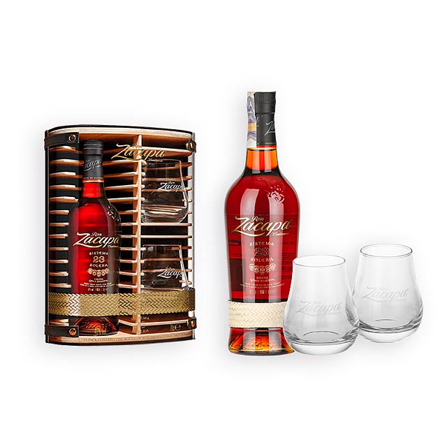 ZACAPA SET ZACAPA SET set rumu Zacapa se skleničkami, stáří 23 let, obsah alk, Vícebarevná - multicolor