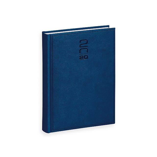PRAGA diář, kapesní vertikální, Královská modrá - modrá