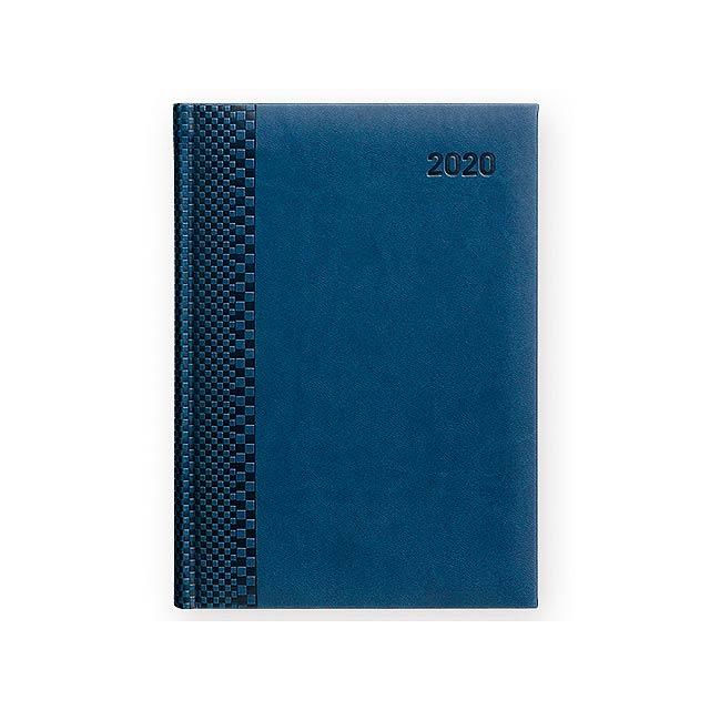 TUCSON kapesní CZ 2020 - Diář s blokem papíru bílé barvy. - královsky modrá