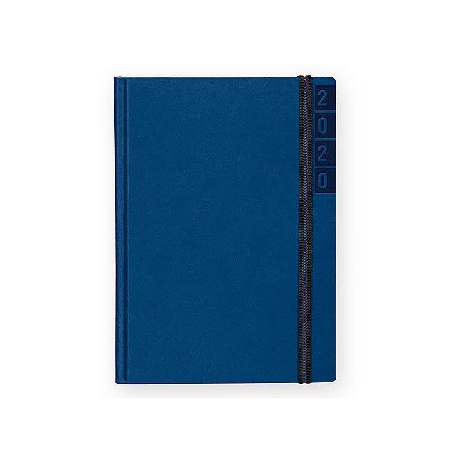 BANDY diář kapesní vertikální, Královská modrá - modrá