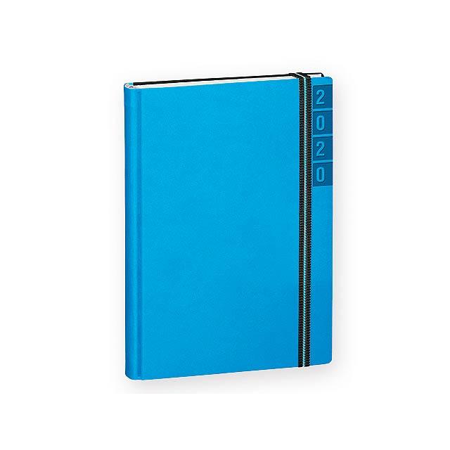 BANDY diář kapesní vertikální, Nebesky modrá - modrá