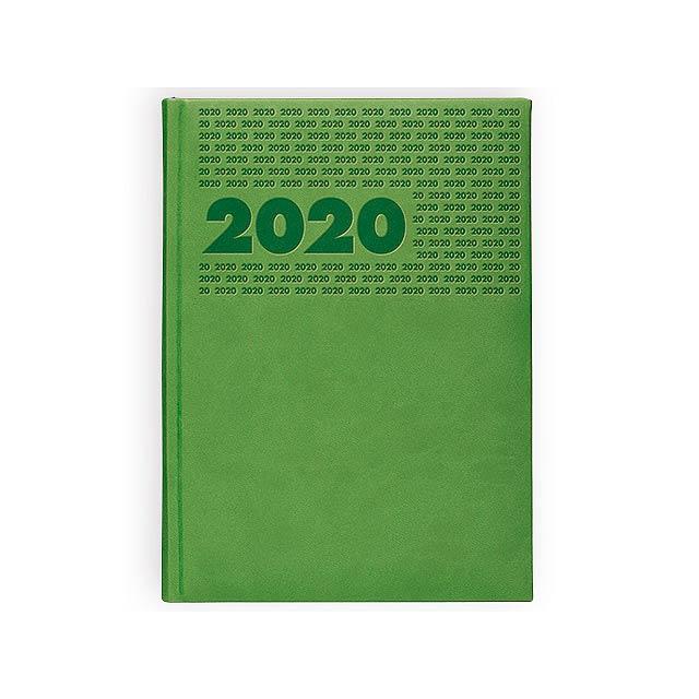 ERA diář kapesní vertikální, Světle zelená - zelená
