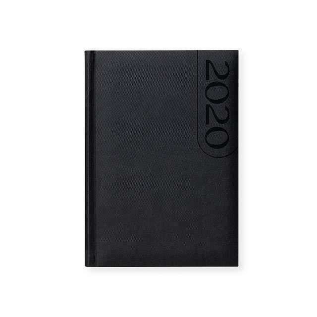 TEXO diář, kapesní vertikální, Černá - černá