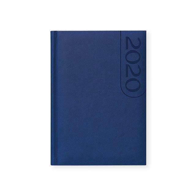 TEXO diář, kapesní vertikální, Noční modrá - modrá