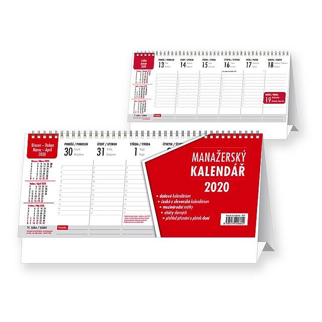 MANAŽERSKÝ KALENDÁŘ/KALENDÁR Stolní kalendář - československé kalendárium, 32x17,5 cm - multicolor