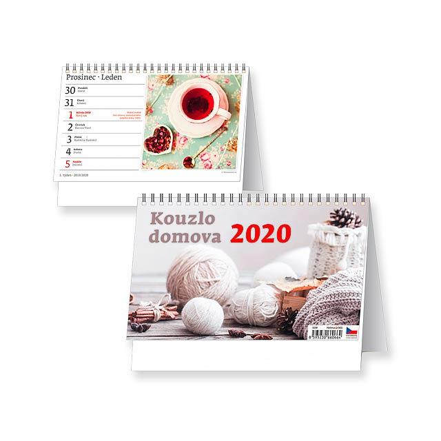 KOUZLO DOMOVA Stolní kalendář, 22,6x17,3 cm - multicolor