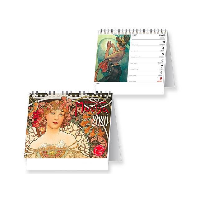 ALFONS MUCHA Stolní kalendář, 16,5x16 cm - multicolor