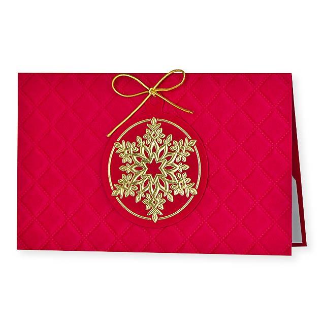 PF CARD PF karta, 150x90 mm - červená