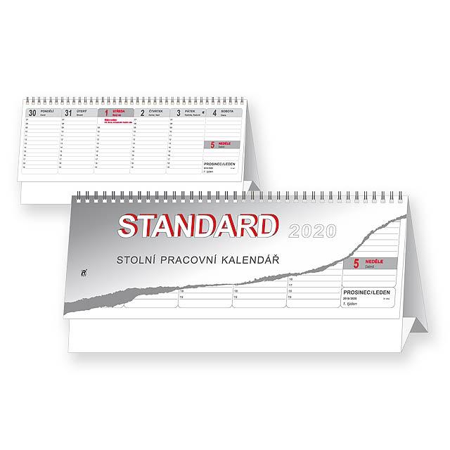 STANDARD 2020 - Stolní pracovní kalendář. - multicolor