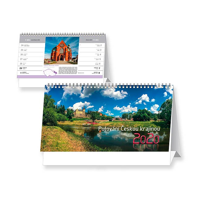 PUTOVÁNÍ ČESKOU KRAJINOU 2020 - Stolní čtrnáctidenní kalendář. - multicolor