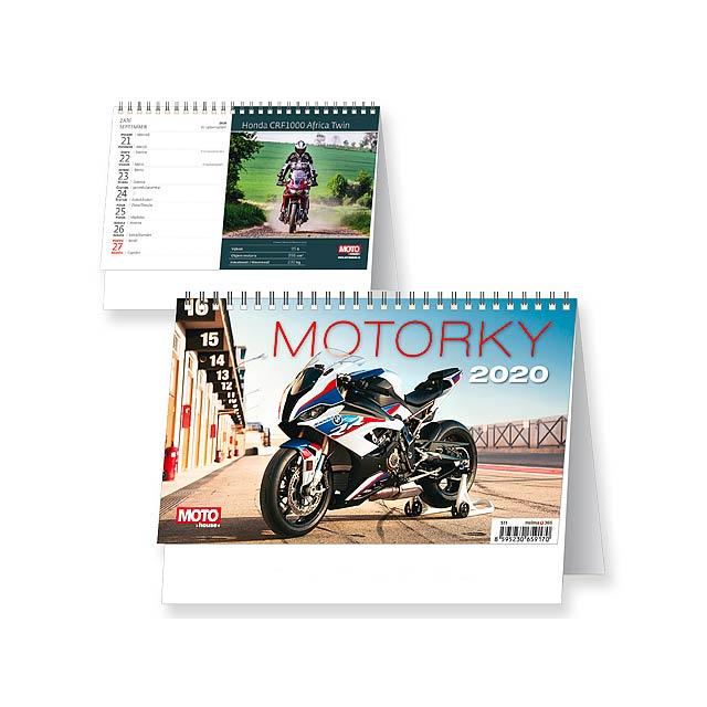 MOTORKY 2020 - Stolní týdenní kalendář. - multicolor