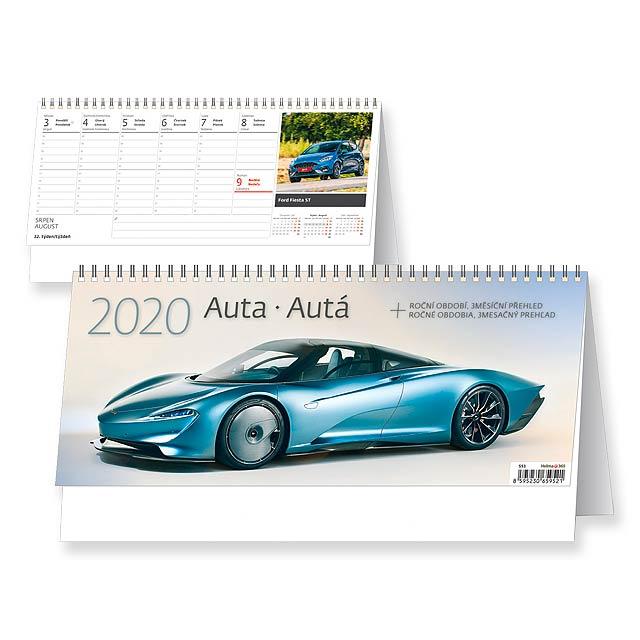 AUTA 2018 - Stolní týdenní kalendář. - multicolor