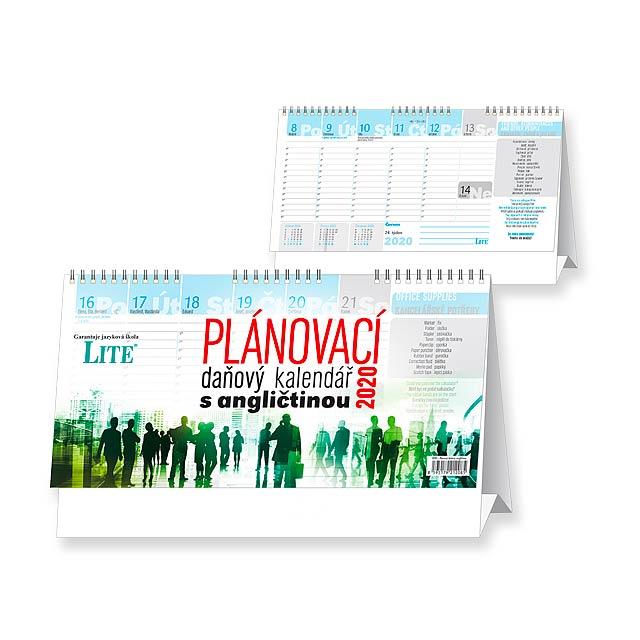 Business s angličtinou - daňový kalendář 2020 - Stolní týdenní kalendář. - multicolor