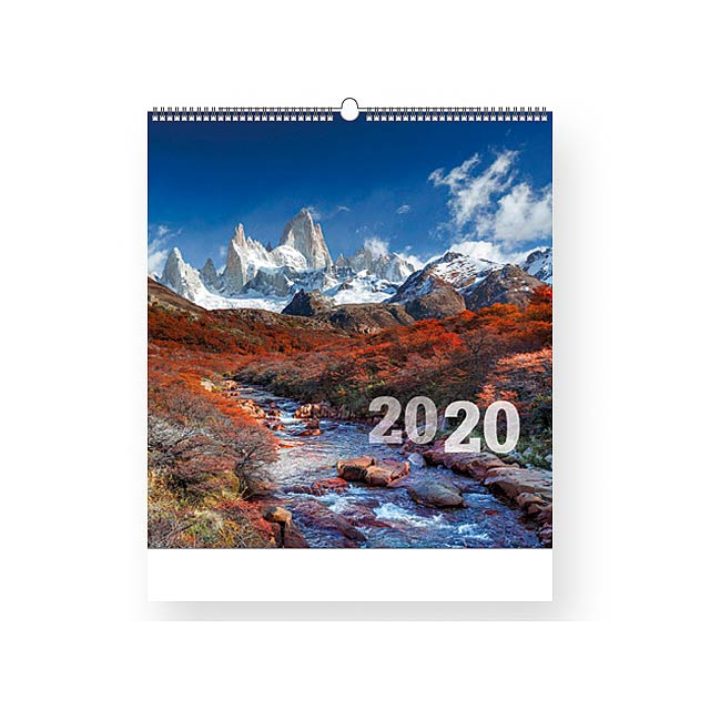 MOUNTAINS - Wall calendar, 13 sheets. - multicolor
