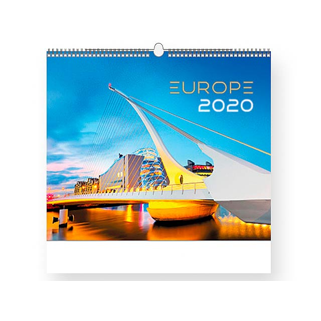 EUROPE - Wall calendar, 13 sheets. - multicolor