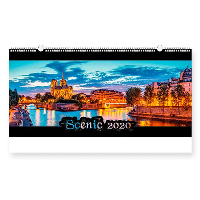 SCENIC - Wall calendar, 13 sheets. - multicolor