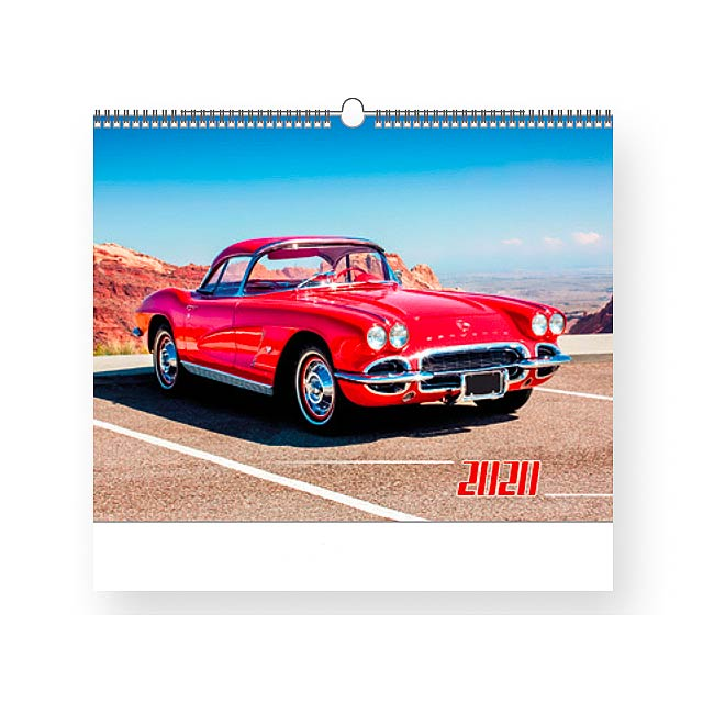 OLD TIMERS - Wall calendar, 13 sheets. - multicolor