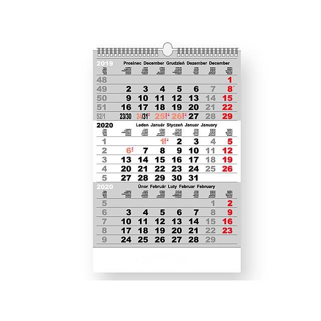 3-měsíční nástěnný kalendář, 12 listů. - multicolor