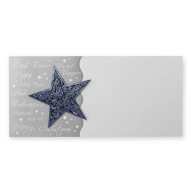 PF CARD PF karta 208x97 mm - stříbrná