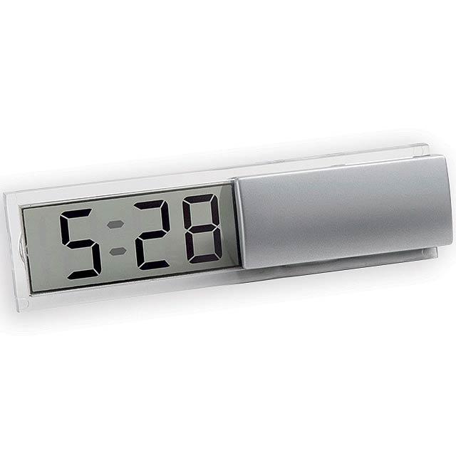 ICY II plastové stolové hodiny, Saténovo strieborná - strieborná