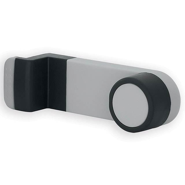 HIGINS plastový držák mobilního telefonu do auta, Světle šedá - šedá