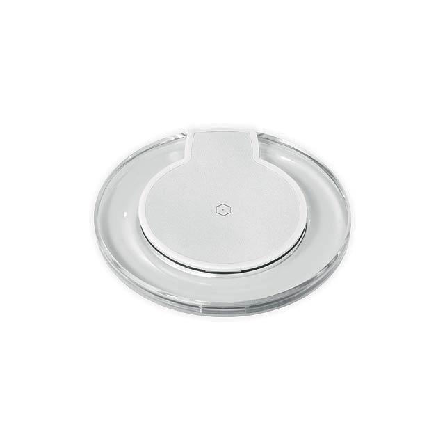 COUSTEAU plastová bezdrátová nabíječka, Bílá - biela