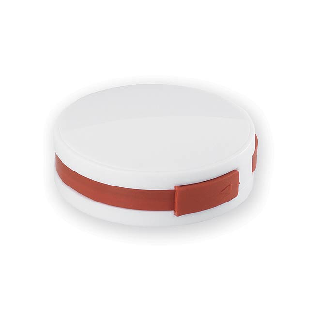 METY plastový USB rozbočovač 2.0, Červená - červená