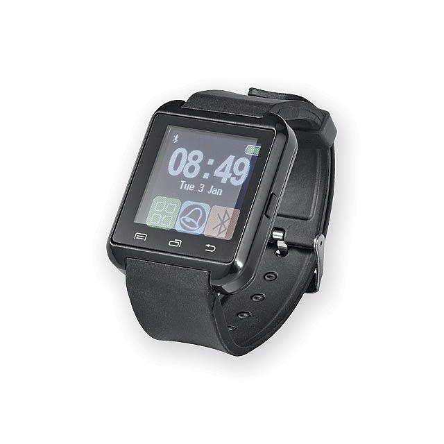 VALONY chytré hodinky se snímačem aktivity, Černá - černá