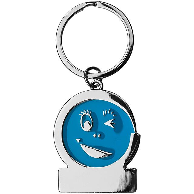 Klíčenka smile - modrá