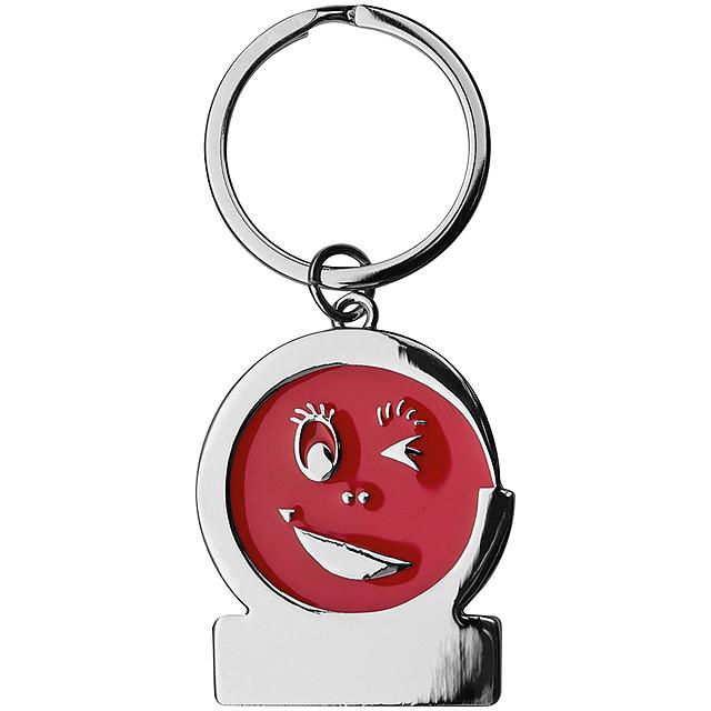 Klíčenka smile - červená