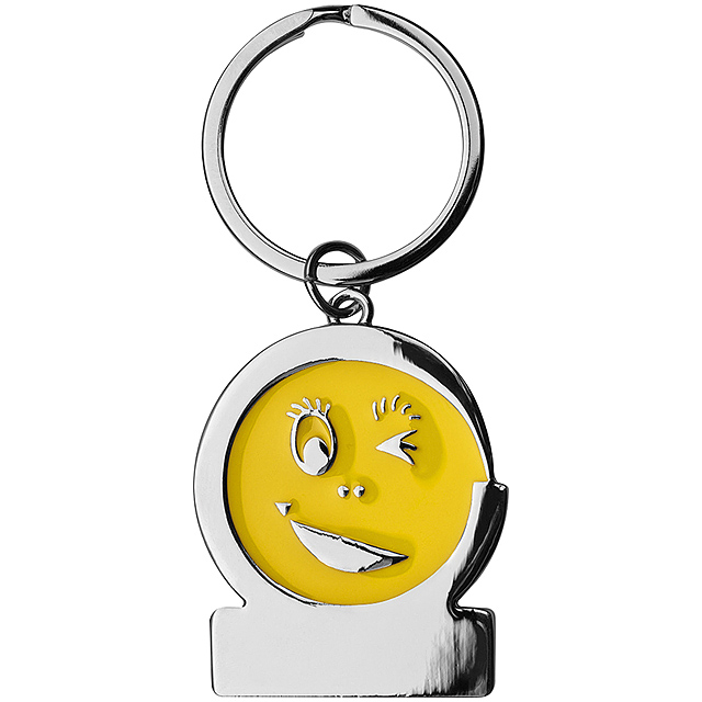 Klíčenka smile - žlutá