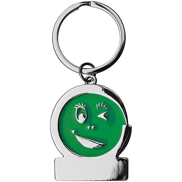 Klíčenka smile - zelená
