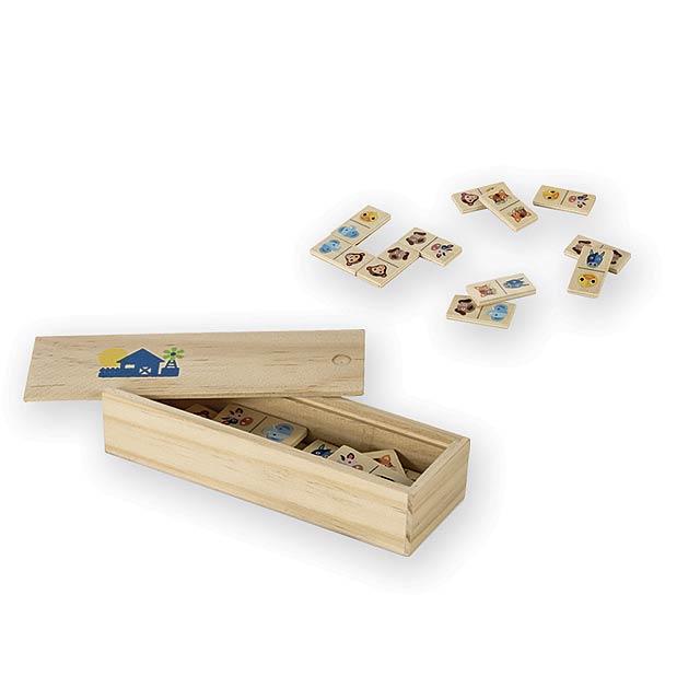 DOMINATE dřevěné domino - multicolor