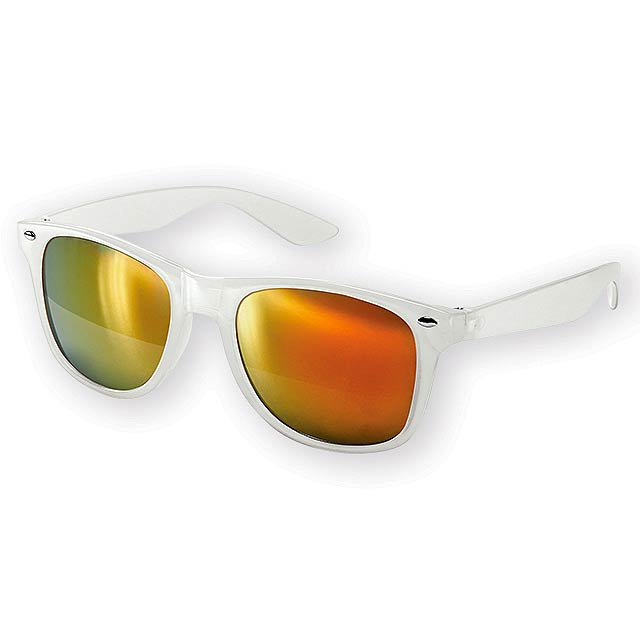 PALAWAN plastové sluneční brýle, UV 400, Oranžová - oranžová