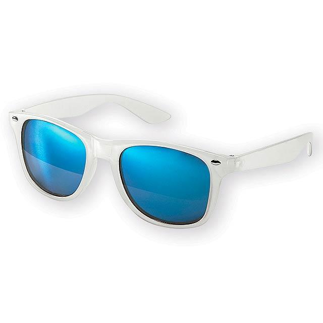 PALAWAN plastové sluneční brýle, UV 400, Světle modrá - modrá
