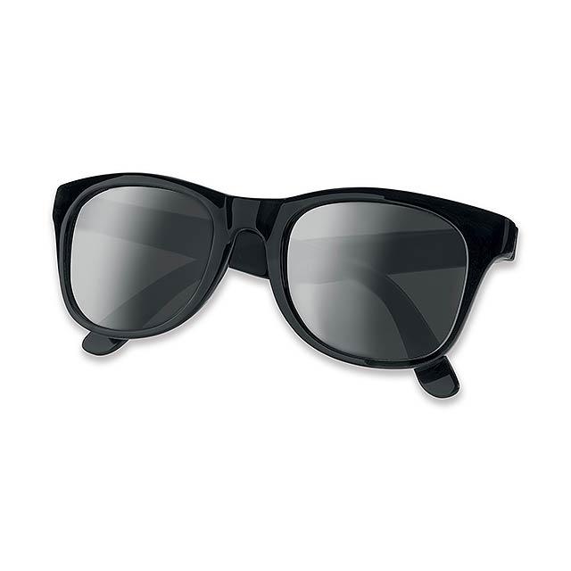 ELTON - Plastic sun-glasses with UV 400 protection. - black