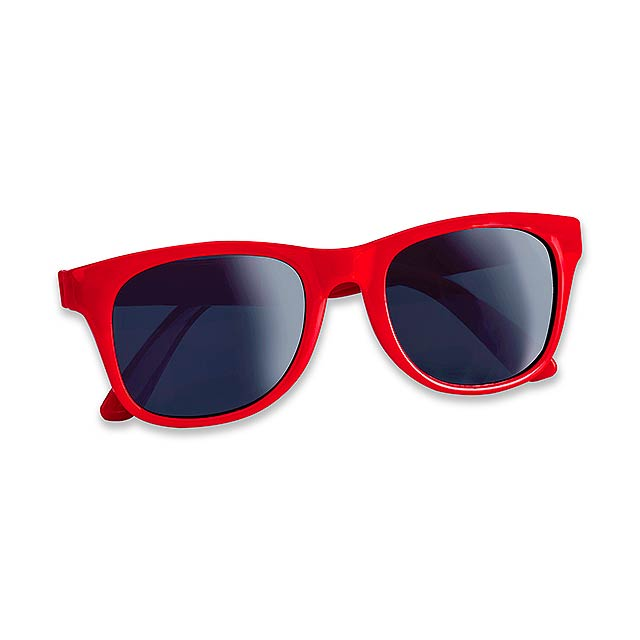 ELTON - Plastic sun-glasses with UV 400 protection. - red