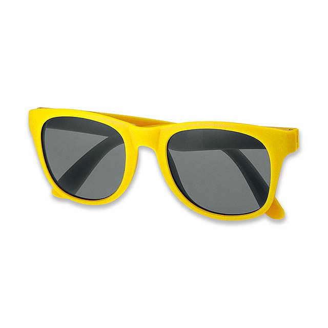 ELTON - Plastic sun-glasses with UV400 protection. - yellow