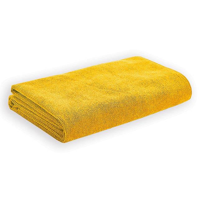 CEBU osuška z mikrovlákna, 250 g/m2, Žlutá - žlutá