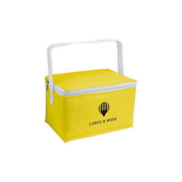 JEDDAH polyesterová termotaška, Žlutá - žlutá