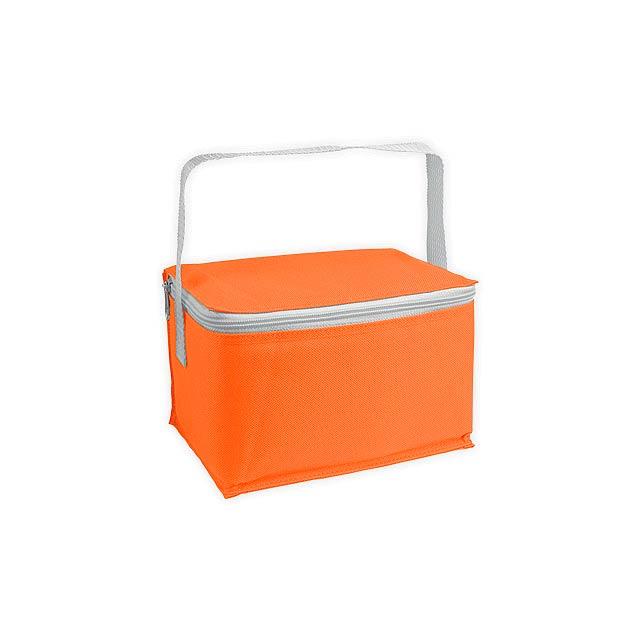 JEDDAH polyesterová termotaška, Oranžová - oranžová