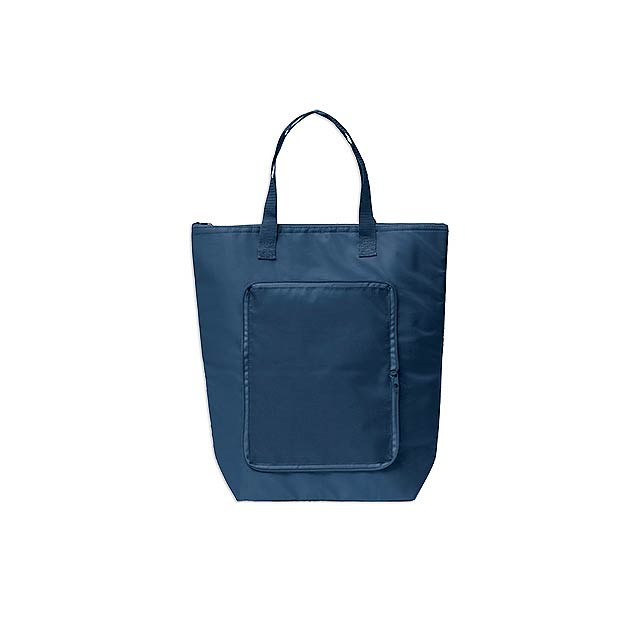 PAULA polyesterová skládací termotaška, Modrá - modrá
